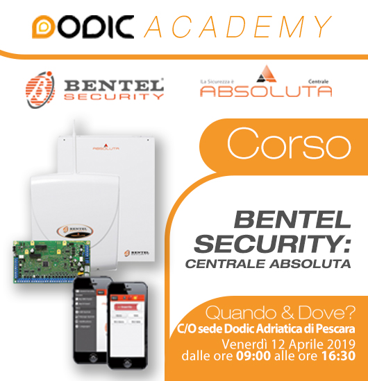 corso bentel security centrale absoluta - dodic