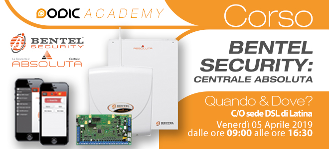 corso bentel security centrale absoluta