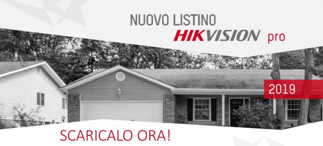 Nuovo listino hikvision pro 2019 - tvcc, antifurto, controllo accessi