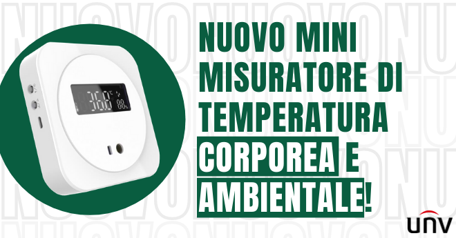 NUOVO MISURATORE DI TEMPERATURA CORPOREA OHE-TWP02-D DI UNV